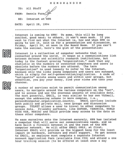 Image of NPR memo as found on http://nprchives.tumblr.com/post/84119269701/a-memo-from-20-years-ago-today-key-quote-the