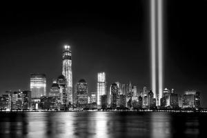 NYC skyline Towers of light